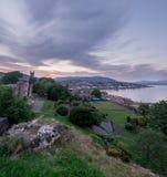 Взгляд Dunoon от руин замка Стоковое Изображение RF