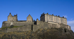 взгляд edinburgh panaromic Шотландии замока Стоковое Фото