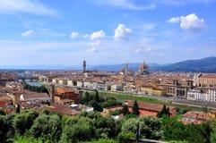 взгляд florence Италии панорамный Стоковые Изображения
