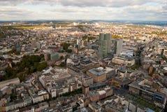 взгляд frankfurt главным образом панорамный Стоковая Фотография