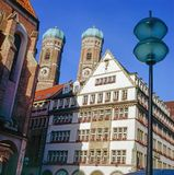 Взгляд Frauenkirche в Мюнхене Стоковая Фотография RF
