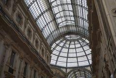 Взгляд Galleria Vittorio Emanuele II стоковая фотография