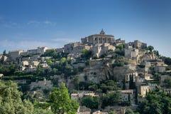 Взгляд Gordes, средневекового городка в области Провансали стоковая фотография