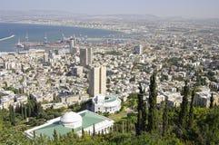 взгляд haifa Израиля Стоковые Фотографии RF