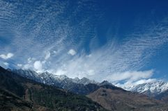 взгляд himalays индийский панорамный Стоковая Фотография RF