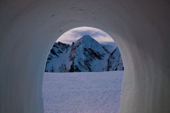 взгляд igloo Стоковое Изображение