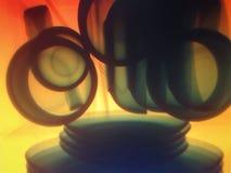 Взгляд kitchenware через рентгеновский снимок стоковые фото