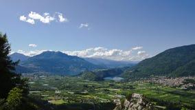 взгляд levico озер caldonazzo Стоковые Изображения