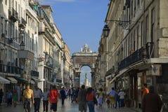 взгляд lisboa Португалии Стоковое фото RF