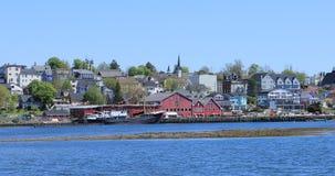 Взгляд Lunenburg, портовый район 4K Новой Шотландии видеоматериал