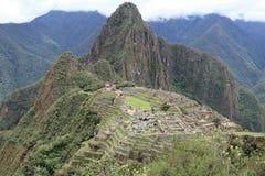 Взгляд Machu Picchu Перу стоковая фотография rf