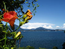 взгляд maggiore lago Италии isola bella Стоковые Изображения RF