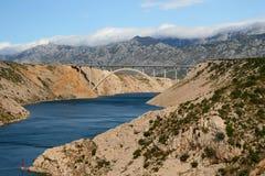 взгляд maslenica моста Стоковое Изображение RF
