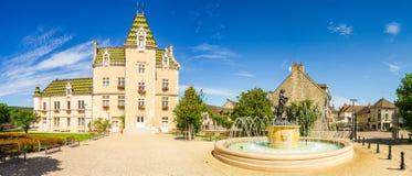Взгляд Meursault, Франции стоковые фотографии rf