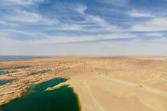 Взгляд midair парка Yardan национального геологохимического, Ганьсу, Китая Yardang было создано с течением времени мягкой частью  стоковая фотография
