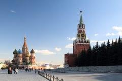 взгляд moscow красный России квадратный Стоковые Изображения RF