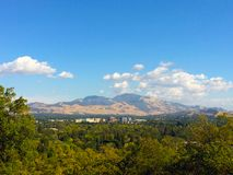 Взгляд Mt Диабло и городского Walnut Creek стоковое изображение