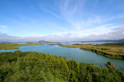взгляд myvatn озера Стоковые Фото