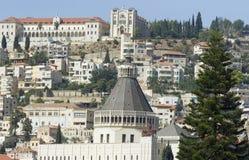 взгляд nazareth церков аннунциации Стоковое фото RF
