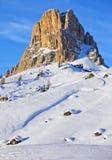 Взгляд Nuvolau на пропуске Giau на доломит альп Стоковое Изображение RF