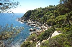 Взгляд o Cala de banys, lloret стоковые изображения