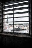 Взгляд Olomouc через окно Стоковое Изображение