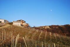 взгляд oltrepo Италии холмов панорамный pavese стоковые изображения