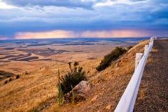 Взгляд Palouse от вершины Butte Steptoe в восточном Вашингтоне Стоковая Фотография RF