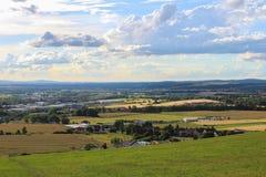 Взгляд Panoramatic на городе Ceske Budejovice и Dubicne Стоковые Фотографии RF