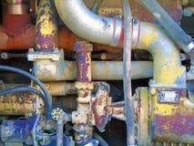 взгляд payloader двигателя стоковое изображение rf
