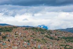 взгляд paz la Боливии панорамный Стоковые Изображения RF