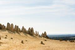 Взгляд Pinacles в десерте западной Австралии Стоковые Изображения RF