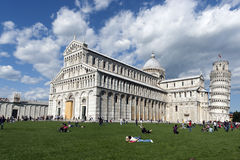 взгляд pisa аркады miracoli dei Стоковые Фотографии RF