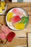 Взгляд popsicles льда Стоковое Изображение RF