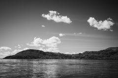 Взгляд Puno от озера Titicaca, Перу стоковые фотографии rf