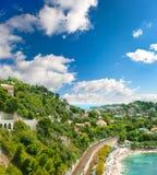 взгляд riviera роскошного курорта залива французский стоковые фото