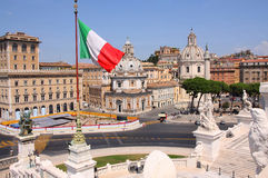 взгляд rome панорамы Италии Стоковая Фотография