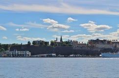 Взгляд Södermalm в Стокгольме Стоковые Изображения RF