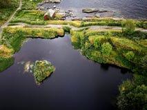 Взгляд Saltstraumen от моста Стоковое Изображение RF