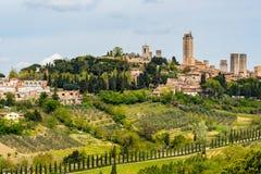 Взгляд San Gimignano стоковые изображения