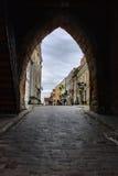 взгляд sandomierz Польши стоковая фотография