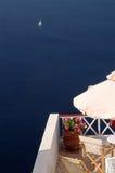 взгляд santorini острова Греции неимоверный Стоковое Изображение