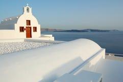 взгляд santorini острова церков Стоковые Изображения RF
