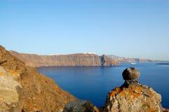 взгляд santorini острова Стоковые Фото