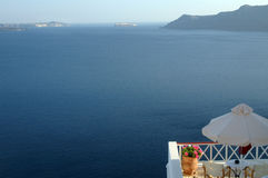 взгляд santorini стоковое фото rf