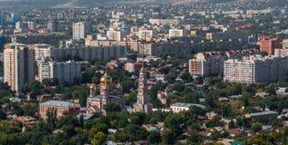 взгляд saratov города осени панорамный Стоковая Фотография