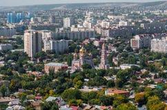 взгляд saratov города осени панорамный Стоковая Фотография RF