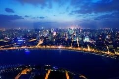 взгляд shanghai ночи фарфора Стоковое фото RF