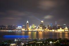 взгляд shanghai ночи стоковое фото