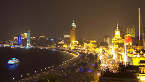 взгляд shanghai ночи стоковые изображения rf